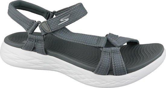 Skechers On-The-Go 600 - Brilliancy Sandalen Dames - Charcoal - Maat 37 dLLqAvtX