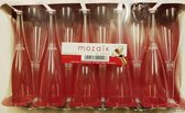 10x wegwerp plastic champagnefluiten met doorzichtige voet - Mozaik van Sabert