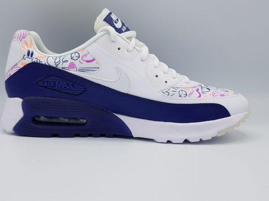 bol.com | NIKE DAMES AIR MAX 90 ULTRA PRINT (WIT/PURPLE ...