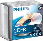 Philips CR7D5NS10 - CD-R 80Min - 700MB - Speed 52x - Slimcase - 10 stuks