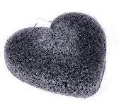 konjac spons bamboo zwart - hartje