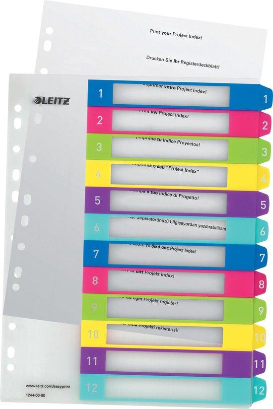 Leitz WOW printbare index tabs - 1-12