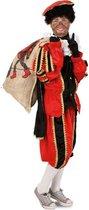 Luxe Piet pak rood - maat M-L + GRATIS PROFESSIONELE SCHMINK - kostuum voor buiten - pietenpak zwart goud Sinterklaas festival