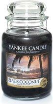 Yankee Candle Large Jar Geurkaars - Black Coconut