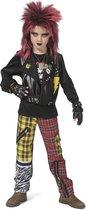 Punk & Rock Kostuum   Punk Peter   Jongen   Maat 140   Carnaval kostuum   Verkleedkleding