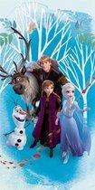 Disney Frozen Strandlaken - 70x140 cm - Blauw