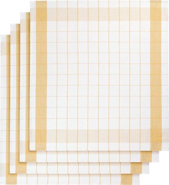 De Witte Lietaer keukenhanddoek - Theedoek - 68x68 cm - Set van 2 Ochre
