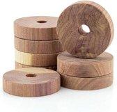 Cederhouten garderoberingen -set van 9 stuks