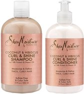 Shea Moisture Coconut & Hibiscus Curl & Shine - Shampoo & Conditioner Set