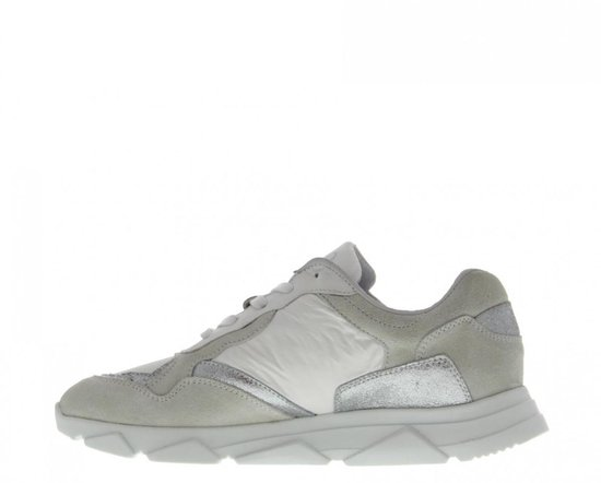 Tango | Kady 5-a White Suede/leather/white Parachute/silver Jogger - Sole Maat: 39 KMzLfc