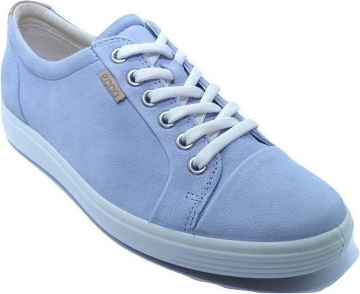 ECCO Soft 7 Dames Sneaker - Blauw - Maat 37 Sneakers