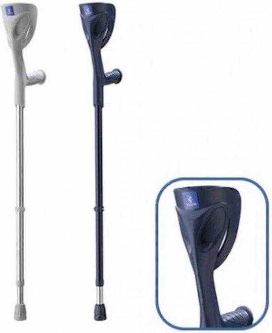 Thuasne Set van 2 Elleboogkrukken / Loopkrukken Globetrotter- Blauw - In hoogte verstelbaar (1.48-1.92 m)- tot 150 kg