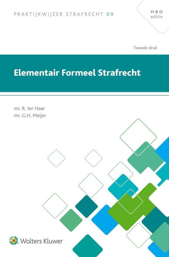 Elementair formeel strafrecht - R. Ter Haar |
