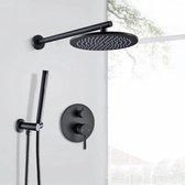 Blackline TS Premium regendoucheset -Inbouw- Mat zwart -Doucheset- 20CM- Stortdouche- Complete doucheset- Handdouche