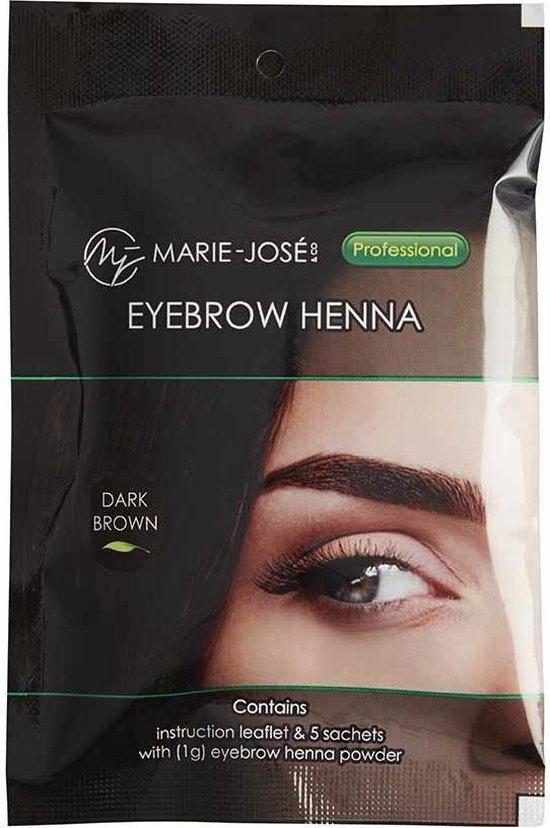 Henna Wenkbrauwverf Donkerbruin | Henna Brows |Geschikt voor minstens 25 toepassingen