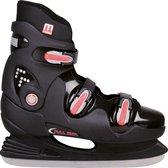 Nijdam 0089 IJshockeyschaats - Hardboot - Zwart/Rood - Maat 40