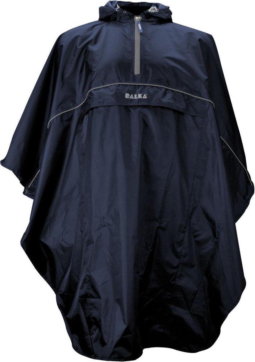 Ralka Poncho - Blauw - One size
