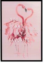 Dresz Letterbord | Inclusief 292 Witte Letters, Nummers & Symbolen | Inclusief 3 Trendy Posters | 2 Montagehaken | 30 x 45 cm | Roze/Zwart
