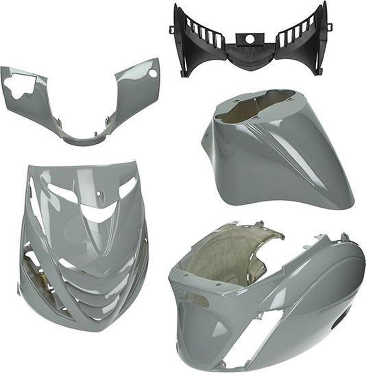 Kappenset Nardo grey Piaggio Zip 2000 grijs DMP 5-delig