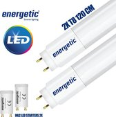 Energetic LED TL Buis T8 1890lm 3000K 20W - 120 CM - Inclusief Led Starters - 2 Stuks