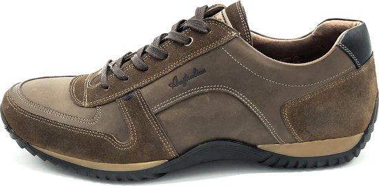 Australian Footwear Heren Sneakers Barclay Bruin Leer - Bruin - maat 45