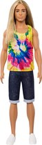 Barbie Ken Fashionistas Pop in tie-and-dyeshirt Lange haren - Barbiepop