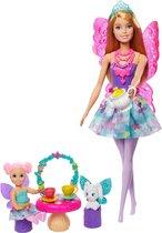 Barbie Dreamtopia Feeën Theekransje Speelset - Barbiepop