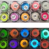 Glow in the dark acryl poeder - 10 stuks  - Levay ®