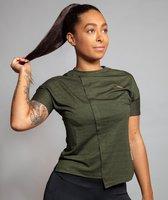 Marrald Soft Dry Sportshirt Dames Groen M - trainings korte mouwen fitness crossfit yoga shirt