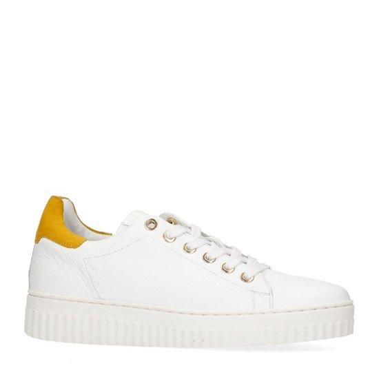 Sacha - Dames Witte Sneakers Met Geel Detail Maat 40 OONa6w