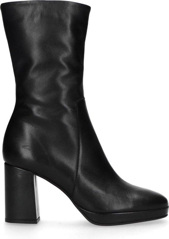 Sacha Dames Zwarte korte laarzen met hak Maat 39