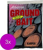 Albatros Groundbait Karper - Lokvoer - 3 x 1 kg Oranje Allround