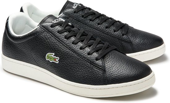 Lacoste Carnaby Evo 0120 2 SMA Heren Sneakers - Black/Off White - Maat 43