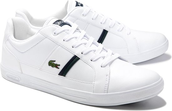 Lacoste Europa 0120 1 SMA Heren Sneakers - White/Dark Green - Maat 41