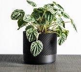 Aspen Groovi Luxe Bloempot - Handgemaakt - Modern design - Plantenpot voor binnen en buiten - Zwart