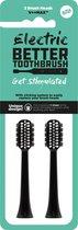 Opzetborstels Regular voor Electric Better Tootbrush - 2 stuks - zwart