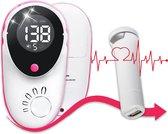 Professionele Doppler 2020   Baby hartje Monitor - Inclusief Doppler Gel & Batterijen - Echo Zwangerschap - Hartslag meter - LCD Scherm