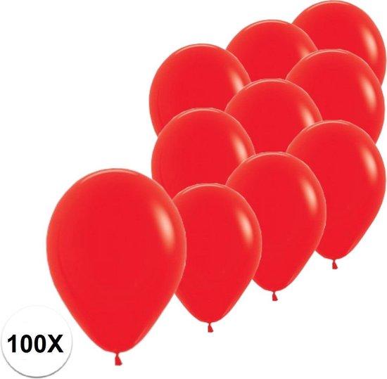 Rode Ballonnen Verjaardag Versiering Rode Valentijn Helium Ballonnen Feest Versiering EK Koningsdag WK Rood 100 Stuks