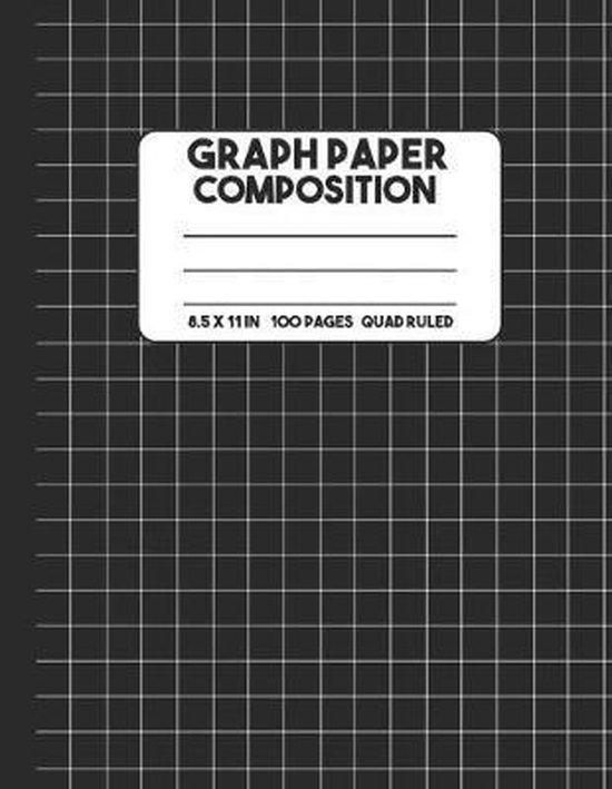 Graph Paper Composition: Black Graph Paper Notebook, 100 Pages Mathematics Graphing Composition Notebook