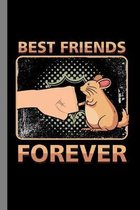 Best Friends Forever: Gerbil Rodents Mammal Veterinary Zoo Gift For Pet Owners And Animal Lovers (6''x9'') Dot Grid Notebook To Write In
