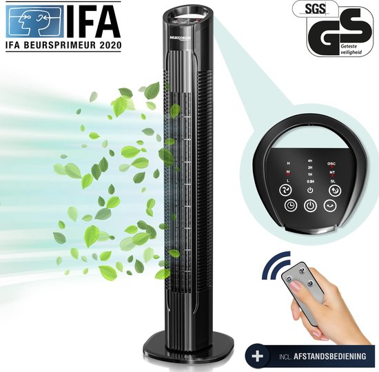torenventilator - afstandsbediening - Duits kwaliteitsmerk - RelaxxNow VTX400 - 3 standen