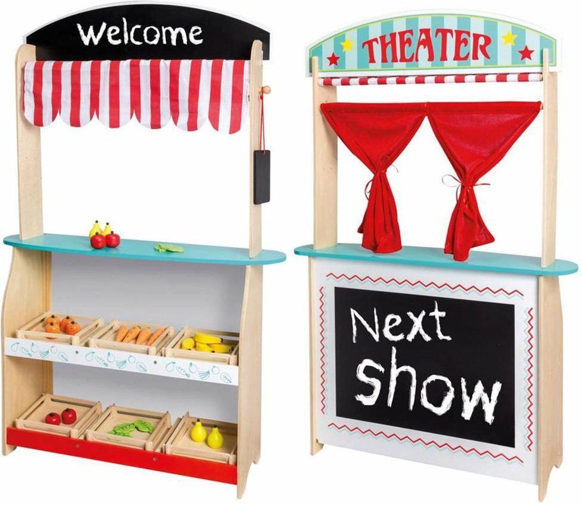 Jou co 2 in 1 Theater en Winkel met Accessoires