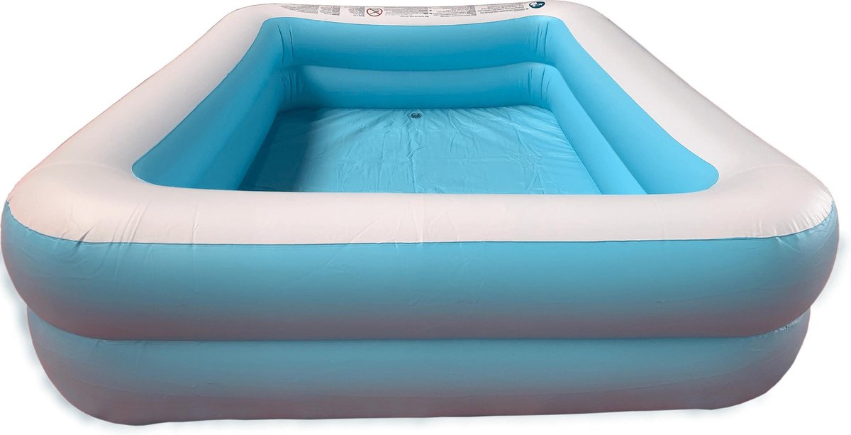 Opblaasbaar Zwembad Rechthoekig Blauw - 181x141x46