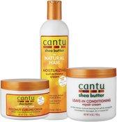 Cantu Verzorging Set Coconut Curling Cream Curl Activator en Leave in Conditioner 3 pieces