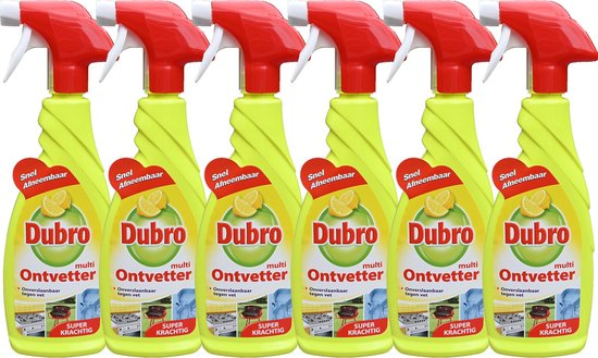 6x Dubro Multi ontvetter spray - verwijdert overal vuil en vet - 6x 650ml
