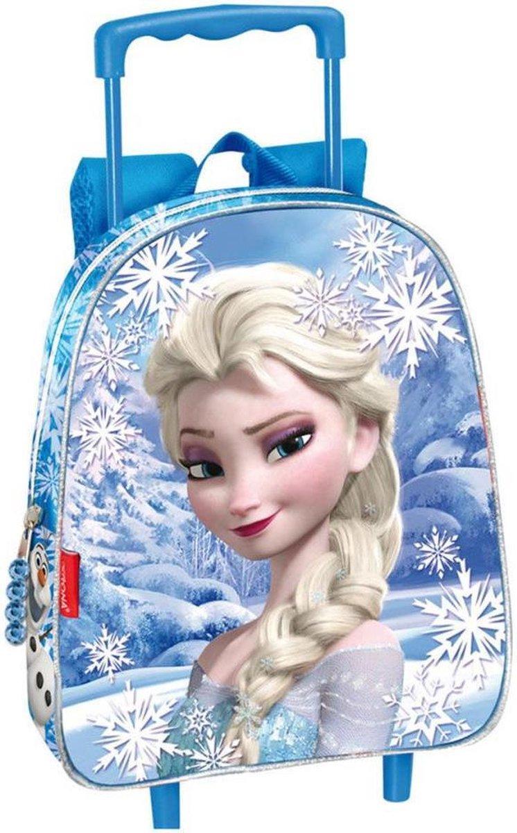Frozen Elsa trolley klein 28 cm - Goede kwaliteit! Snow met glitters
