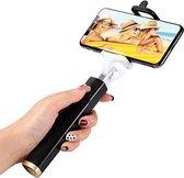 Selfie stick zwart monopod met ingebouwde shutter / afdrukknop voor de Smartphone (iPhone / Samsung / HTC / Nokia / Universeel)