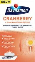 Davitamon Cranberry - Cranberrycapsules met D-Mannose en Hibiscus- Voedingssupplement - 30 capsules