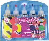 Tie Dye Kit Tiedye Verf Set Textielverf Poeder 5 Kleuren 120ml - Shirt Tie Dye Set Incl Touw & Handschoenen – Tie Dye Paint - Kindvriendelijk - Hoge Kwaliteit - Hobbypainting.nl®
