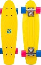 Nijdam FlipGrip Skateboard - Boulevard Trickster - Geel/Blauw/Fuchsia